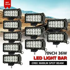 10x 7INCH 36W LED Work Light Bar CREE Spot Beam Off Road Driving Fit For JEEP JK