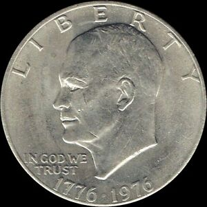 """1976 P Eisenhower Dollar """"Circulated"""" US Mint Coin Ike"""