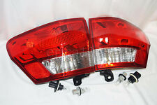 Rear Outer Taillight Tail Light Lamps w/Bulbs One Pair for 2013 Grand Cherokee