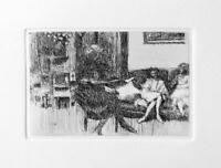 Edouard Vuillard Interieur au Canape 1930 Re-Strike Etching & COA