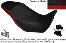 BLACK & DARK RED CUSTOM FITS HONDA CB 500 X 13-14 DUAL LEATHER SEAT COVER