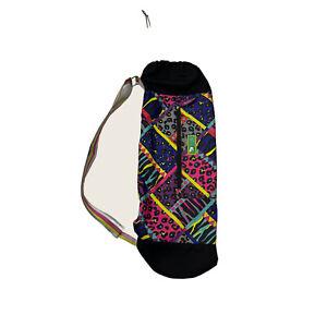 "LilyZen by Lily Bloom 24""Tube Shoulder Strap Bag  Black Colorful Print"