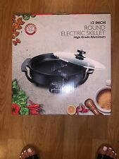 "Chefs Counter 12"" Round Electric Skillet Brand New In Box"