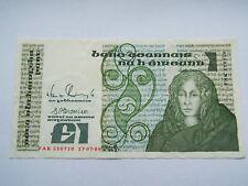 Irish 1 Pound Banknote Series B 1989