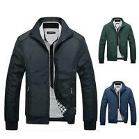 Winter New Men's Slim Collar Jacket Tops Casual Coat Vogue Warm Outerwear
