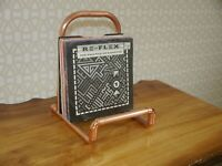 """Copper Vinyl 7"""" 12"""" LP Record Stand Industrial Storage Holder Pipe Made to Order"""