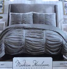 Modern Heirloom Collection Emily Texture Comforter Set,King Gray King