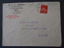 Algérie, enveloppe 1933 d'Oran à Paris