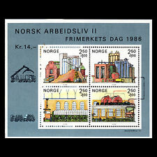"""Norway 1986 - Trade """"Paper industry"""" Architecture - Sc B69 MNH"""