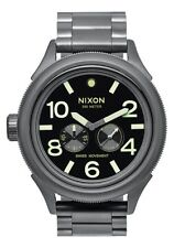 NEW NIXON OCTOBER TIDE ALL GUNMETAL/LUM  A474 1418