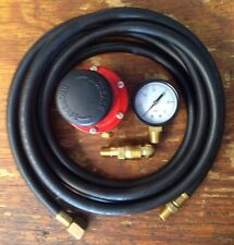 HP, Adjustable Regulator Kit  for Cookers & Smokers. 0-30 Psi, 10 Foot Hose
