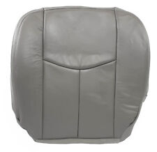 2003-2007 Chevy Silverado 1500 HD LT -Driver Side Bottom LEATHER Seat Cover Gray