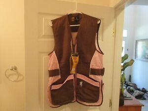 LADY Browning Mesh Shooting Vest - Reactar G2 - Brown & Pink - XL - NWT