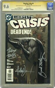 Identity Crisis #6A Turner Variant CGC 9.6 SS 2005 0764143018