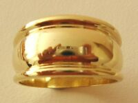 GENUINE  SOLID  9K  9ct  YELLOW  GOLD   RIDGED  DOME   RING