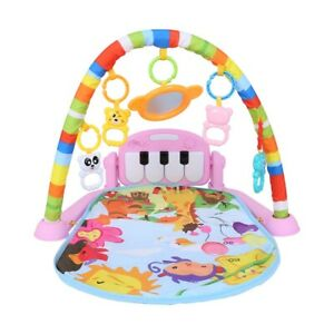Baby Gym Play Mat Lay & Play 5 in 1 Fitness Music And Lights Fun Piano Boy/Girl
