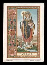 antico santino cromo-holy card S.VILLIBRORDO V. DELLA FRISIA