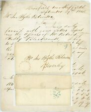 More details for 1848 letter dronfield local udc sheffield to beverley siddall + kidby blacksmith