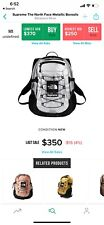 Supreme The North Face backpack Silver 3M Metallic Borealis TNF Bag