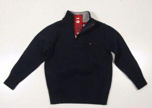 Tommy Hilfiger Boy's Navy Blue 1/2 Zip Pullover Sweater