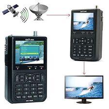 "SatLink WS-6906 3,5"" DVB-S LNB Satelliten Satfinder Sat Messgerät Bild & Ton DE"