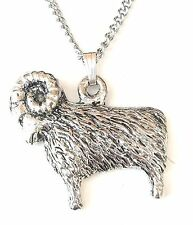 Star Sign - Aries Pendant Handcrafted in Solid Pewter In The UK + Free GiftBox