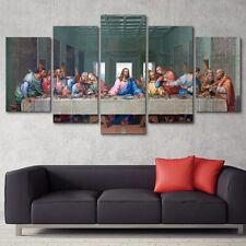 Christian Last Supper Jesus Christ Poster 5 Piece Canvas Wall Art Print Decor