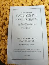 Irene Kohler George Weldon Halle Orchestra Free Trade Hall Manchester programme