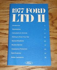 Original 1977 Ford LTD II 2 Owners Operators Manual 77