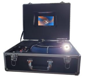 30m - Profi-Color Rohrkamera Kanalkamera mit Aufnahmefunktion u. Akku