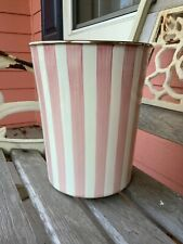 Mackenzie Childs Designer Enamel Waste Basket Trash Can Bathing Hut