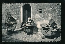 Belgium BRUGES Lace Makers at work RP PPC Used 1959