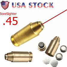 Us Stock 45 Acp Red Dot Laser Bore Boresighter Sighter Boresight Cartridge Brass