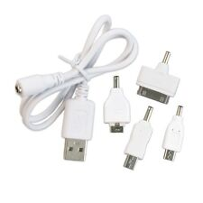 5 x New USB Cable with Connector Tips iPod iPhone Mini Micro LG Adapter Data