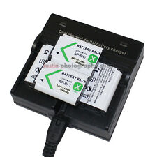 Dual Charger +4x Battery for Sony NP-BX1 CyberShot DSC-QX100 DSC-HX50V DSC-HX300