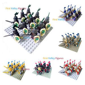 10pcs Knights Kingdom Figure Military Army Soldier Ninjago for Lego Minifigures