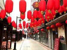 3 JAPANESE L 36cm RED GOLD LANTERN LIGHT SHADE CHINESE WEDDING BIRTHDAY PARTY U
