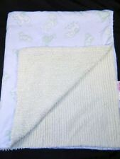Amy Coe Circus Green Chenille Baby Blanket 100% Cotton Very Nice Condition