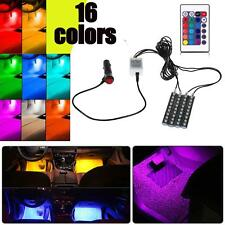 4x 9 LED Car Interior Atmosphere Neon Strip Lights Wireless IR Remote Control