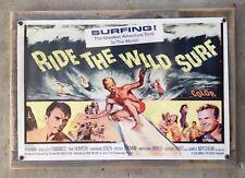 Ride The Wild Surf Vintage 60's Surfing Surfboard Movie Poster Framed Steel