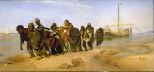 Ilya Repin Barge Haulers on the Volga Poster Reproduction Giclee Canvas Print