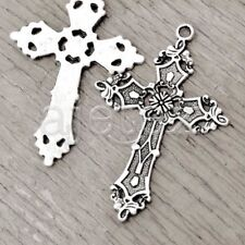 10pcs Tibetan Silver Tibet Style Jesus Cross Charm Pendant Drop Findings TS2584