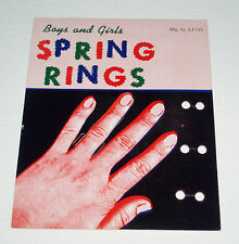 Vintage SPRING RINGS Gumball Machine Insert Card