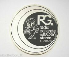 VECCHIO ADESIVO RADIO / Old Sticker RADIO RG GALLARATE (cm 10) nero