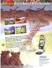 JAMBO SAFARI By SEGA 1999 ORIGINAL NOS VIDEO ARCADE GAME SALES FLYER BROCHURE