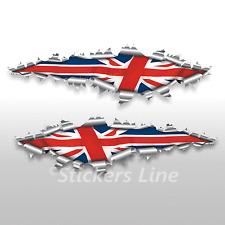 Adesivi bandiera INGLESE strappo stickers cm 125