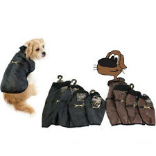 Dog Puppy Quilted Jacket Pet Coat Body Warmer Brown Black 4 Sizes Padded