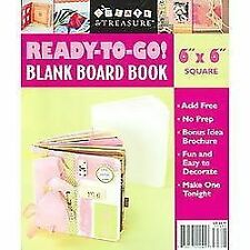 """Ready-To-Go Blank Board Book White 5 X 3""""  2 TAGS 8 PAGES  NEW"""