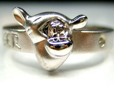 4.5 or 9  AUTH DISNEY WINNIE THE POOH TIGGER STERLING SILVER PLATINUM BAND RING
