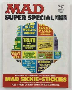 MAD MAGAZINE Super Special No. Thirteen w/ Bonus Mad Sickie-Stickies Stickers